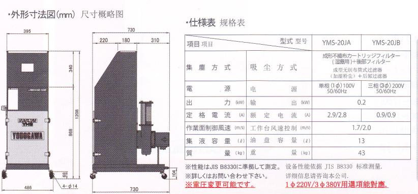 YMS-20J参数